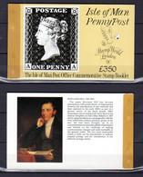 Ile De Man 1990, 150° Du «Penny Black», 2x Carnet Commémoratifs, C436**, Cote 44 €, - Isla De Man