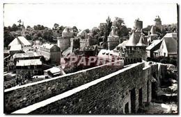 CPM Fougeres Le Chateau Et L&#39Eglise Saint Sulpice - Fougeres