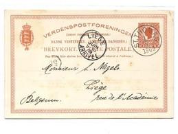 D.W.I. Danish West Indie Antilles Danoises E.P. Carte Postal Stationery Card 10bit. Red-orange On Light-cream Canc. S - Deens West-Indië