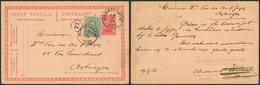"""EP Au Type 10ctm Rouge Albert I + N°137 Obl Simple Cercle """"Wommelghem"""" (1921) > Antwerpen / Cachet Privé Brouwerij Van W - AK [1909-34]"""