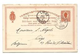 D.W.I. Danish West Indie Antilles Danoises E.P. Carte Postal Stationery Reply Card 10bit. + 10bit. Red-orange On Light- - Deens West-Indië
