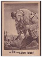 GG (004127) Propagandakarte Nicht Du Bist Der Maßstab! Sondern Die Front!, Blanco Mit SST Krakau Gestempelt - Occupazione 1938 – 45