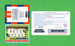 TIM  - Con Gli Azzurri Verso I Mondiali 2002 - 5 €  Validità  Apr. 2004  -  IF5-P  ETU-D1 - Ricarica Già USATA - GSM-Kaarten, Aanvulling & Voorafbetaald