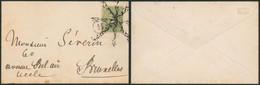 Albert I - N°137 Sur Petite Env. Format Carte De Visite Annulé Par Cachet De Facteur & Roulette En Forme D'étoile > Brux - 1915-1920 Albert I