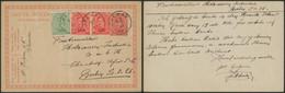"EP Au Type 10ctm Rouge Albert I + N°137 Et 138 X2 Obl S.C. ""Jalhay"" (1921) > Berlin - Cartes Postales [1909-34]"