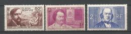 FRANCE ANNEE 1940 N°462 à 464 NEUFS** MNH TB COTE 41,50 € - Nuovi