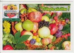 2021 , Moldova ,  UN: 2021 - International Year Of Fruits And Vegetables , Maxicard - Moldavia