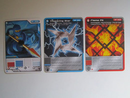 3 Cartes LEGO NINJAGO JAY - THROWING STAR - FLAME PIT - Other