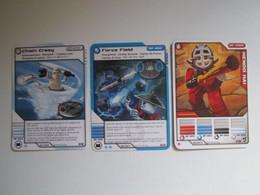 3 Cartes LEGO NINJAGO CHAIN CRAZY - FORCE FIELD - KENDO KAI - Other