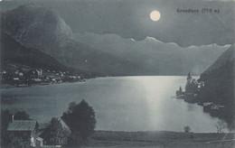 7991) GRUNDLSEE - Haus Details Und Blick über See Mit MOND Nacht - ALT !! BAD AUSSEE 1912 - Other