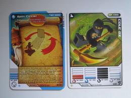 2 Cartes LEGO NINJAGO SPIN CIRCLE - COLE DX - Other