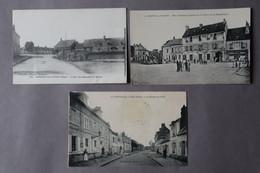 3 Cpa OISE  CONCHY Les Ponts,  Crepy En Valois  La Neuville  En HEZ  Petites Cartes - Non Classés