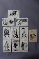 LOT10 De Cartes Anciennes Les Courriers,   Nos Postiers,  Automobile Postale - Poste & Facteurs