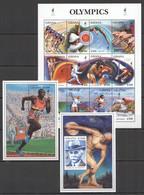 NW464 GHANA SPORT OLYMPIC GAMES ATLANTA 1996 PIERRE DE COUBERTIN 1KB+2BL MNH - Verano 1996: Atlanta