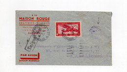 !!! INDOCHINE, LIGNE SAIGON - MARSEILLE, LETTRE PAR AVION DE 1934 AVEC CACHET DE CONTROLE - Briefe U. Dokumente
