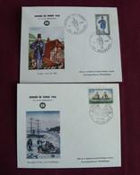 Enveloppes Premier Jour :  Journée Du Timbre (1965 / 1968 /) ( Les 2) - Día Del Sello