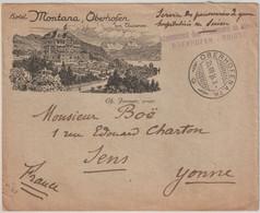 Lettre Illustrée Oberhofen / Thunersee Suisse Hôtel Montana  Immer Prop Prisonniers Guerre Expédiée 1916 Par Général Boé - Cartas