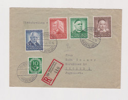 GERMANY 1953 IHLIENWORTH Nice Registered Cover To Yugoslavia - Lettres & Documents