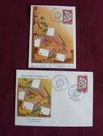 Enveloppe Premier Jour :  Journée Du Timbre (1974) + 1 Carte - Día Del Sello