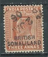 Somaliland YT N°17 Edouard VII Surchargé British Somaliland Oblitéré ° - Somaliland (Protectorate ...-1959)