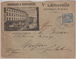 RARE Lettre Illustrée Moissac (82) Vve Lamozelle Draperies Nouveautés Maux De Dents  Expédiée 1899 à Elie Bessières - Non Classificati