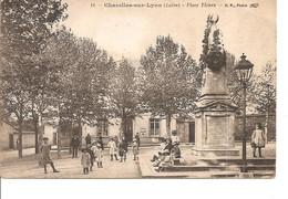 LOIRE CHAZELLES SUR LYON  PLACE THIERS ANIMEE NON ECRITE - Other Municipalities