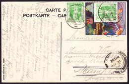 1908 Linthtal, Braunwald Bahn. Reklame Marke Mit Tell Frankatur Auf Ansichtskarte, Gestempelt Glarus Nach Manchester Ge- - Cartas