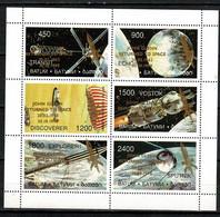 Georgia - Batum - Space 1998 40th Anniversary Of Sputnik 1 With Gold Overprint Glenn Returned To Space  Nice Sheet - Georgia