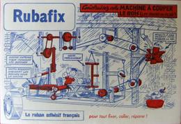 Année 60  1 Buvard Biscuit  RUBAFIX  D'après Erik - Unclassified