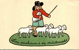 LES SANTONS DE LA CRECHE PROVENCALE PAR HELENE RENAULT LE PETIT ET SES MOUTONS - Andere Zeichner