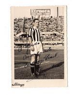 "13187 "" CARL AGE PRAEST-JUVENTUS "" CON  DEDICA  AUTOGRAFATA-FOTO COMM. R. BERTAZZINI-TORINO-1954 - Sports"