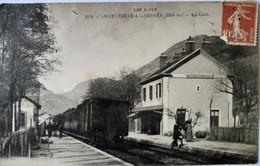 CPA L' ARGENTIÈRE - LA - BESSÉE (05) - LA GARE - 1917 - BE - L'Argentiere La Besse