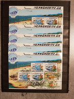 KOREA INTERNATIONAL YEAR OF THE OCEAN 1998 LOT 5 SHEETS PERFORED USED - Corea Del Norte