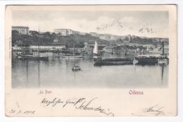 Odessa Port View Embossed - Ukraine