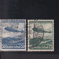 RAL2 /  Deutsches Reich  606 / 607 Zeppelin  /  Rundstempel Ua. Berlin - Gebraucht