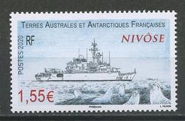 TAAF 2020  N° 916 ** Neuf MNH Superbe Frégate De Surveillance Nivôse Navire Ships Transports Faune Otaries Animaux - Ungebraucht