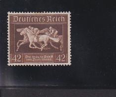 RAL2 /  Deutsches Reich  621 Braune Band Blockmarke  /  Rundstempel - Gebraucht