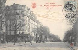 CPA 75 PARIS XIe TOUT PARIS AVENUE PHILIPPE AUGUSTE A LA HAUTEUR DU N°66 - Arrondissement: 11