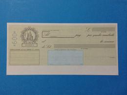 ITALIA REPUBBLICA CAMBIALE NUOVA IN BIANCO DA LIRE 600 SEICENTO - Bills Of Exchange