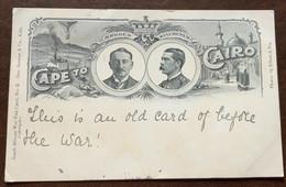 CAPE TO CAIRO - RHODES - KITCHENER  - POST CARD A DONNA ANNA MARIA BORGHESE - MIGLIARINO PISANO - ITALY 1900 - Monde