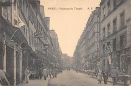 CPA 75 PARIS XIe PARIS FAUBOURG DU TEMPLE - Arrondissement: 11
