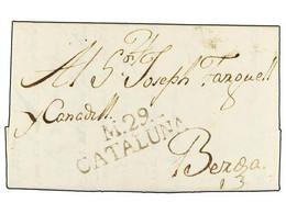 SPAIN: PREPHILATELIC MARKS  DP05 CATALUÑA - ...-1850 Prefilatelia