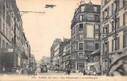 CPA 75 PARIS XIe PARIS RUE OBERKAMPF A LA RUE CRESPIN AVION - Arrondissement: 11