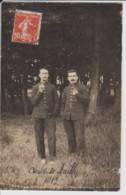 10 – CAMP DE MAILLY – 1913 – Superbe Carte Photo De Deux Militaires Fumant La Pipe. 103eme Régiment D'Infanterie. - Mailly-le-Camp