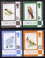 Gibraltar 1977 Birds, The 4 Values From Def Set (2.5p, 6p, 20p £ £2) SG 377, 381, 385 & 389 U/M* - Gibilterra