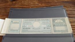 LOT552712 TIMBRE DE FRANCE NEUF** LUXE COLIS POSTAUX PARIS POUR PARIS - Mint/Hinged