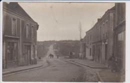 72 – BOULOIRE (Sarthe) – Superbe Carte Photo  De L'entrée Du Village (1909) Avec Attelage Au Loin - Bouloire