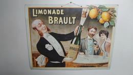 """Plaque Cartonnée Publicitaire """"Limonade Brault"""" - Plaques En Carton"""