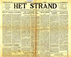 Oorlogskranten. Het Strand, 24 Ste Jaargang. 22.april 1944 (BAK-2) Oostende - Ostende - Sin Clasificación