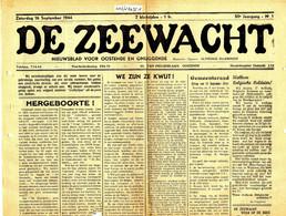 De Zeewacht, 50 Ste Jaargang, 16 September 1944 (BAK-2) Oostende - Ostende - Sin Clasificación